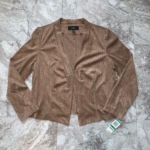 Alfani Faux Suede Blazer with Cut Out Pattern